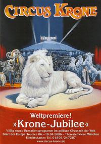 Jubilaumsplakat des Circus Krone